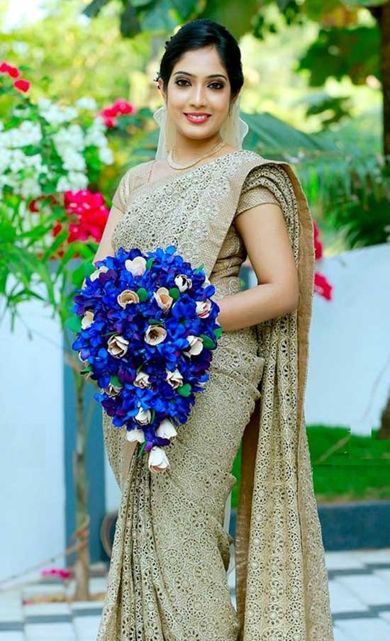 Kerala Christian Weddingg saree