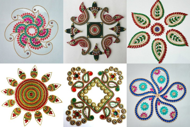 27 Best Kundan Rangoli Designs for your Inspiration