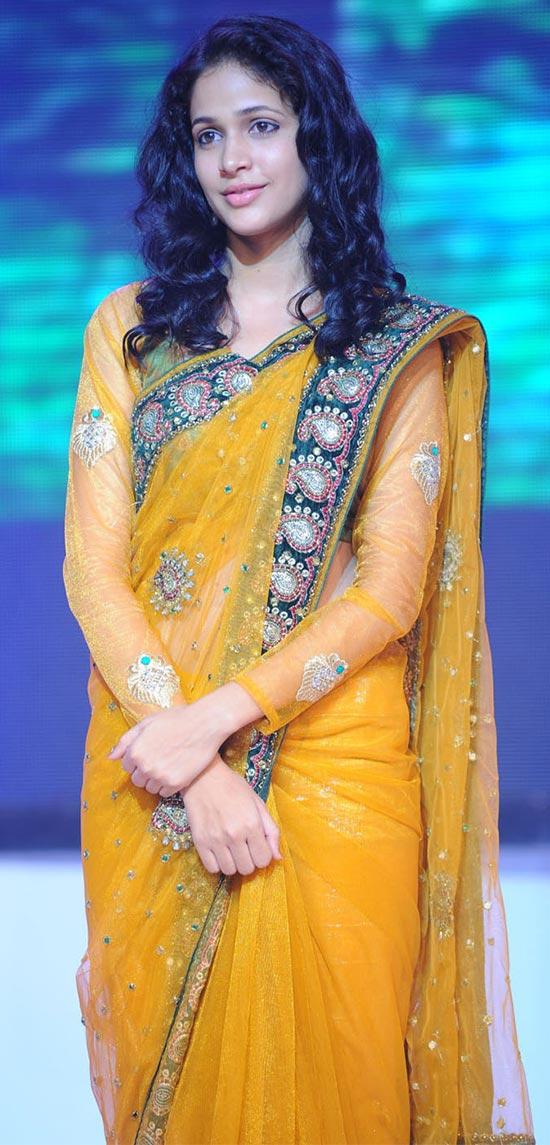 Lavanya-Tripathi-orangeTransparent Saree