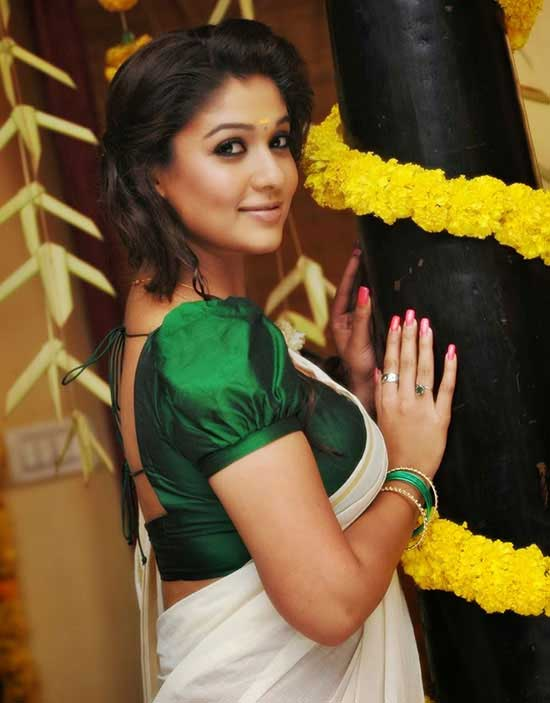 Nayanatara kerala traditional saree