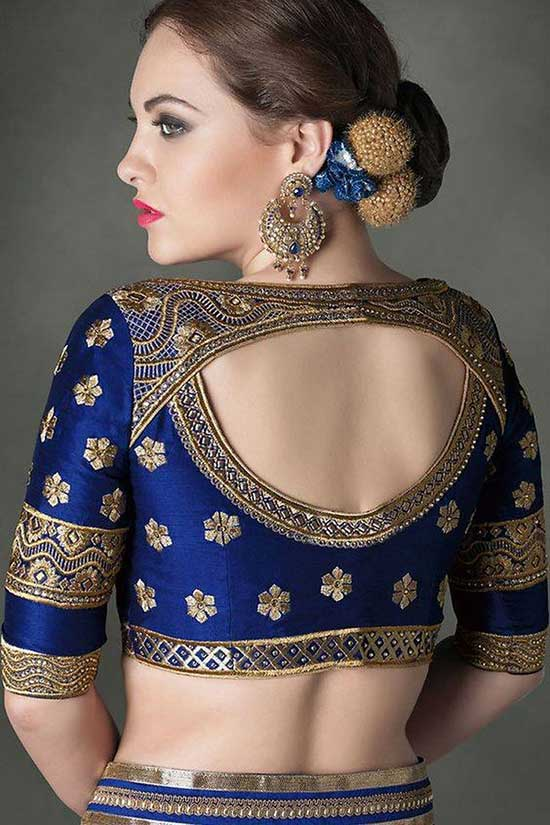 Pretty saree or sari blouse design