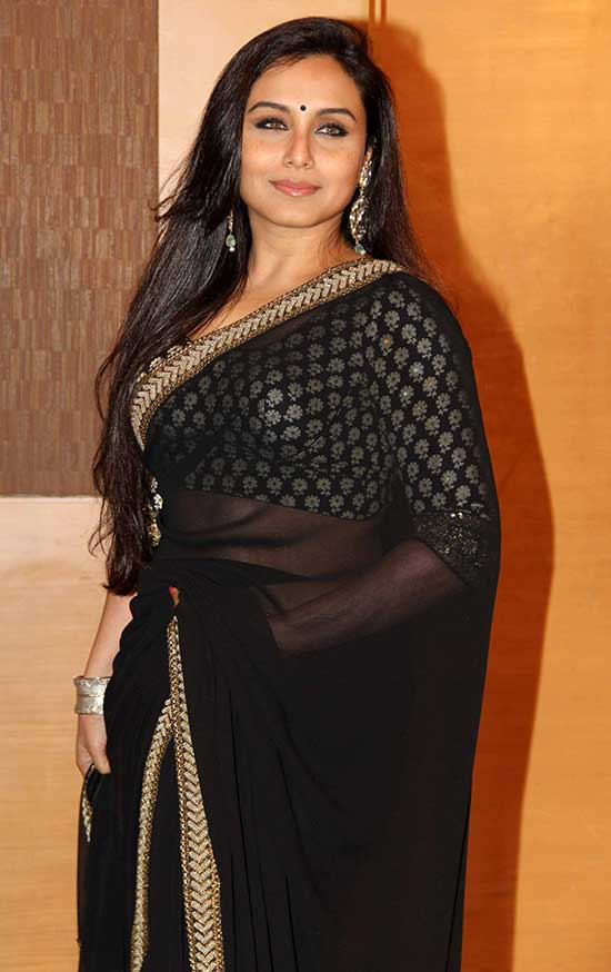Rani Mukherjee in Black Color Net Saree