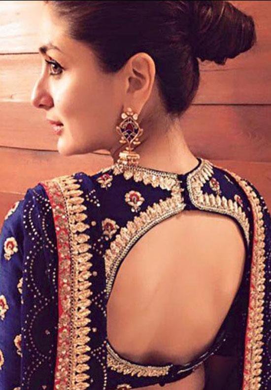 Royal-Blue-Open-Back-Blouse-Back-Neck-Design