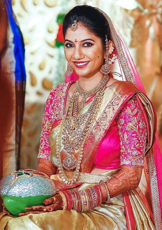 Saree Heavy Diamond Jewellery Uppada Saree