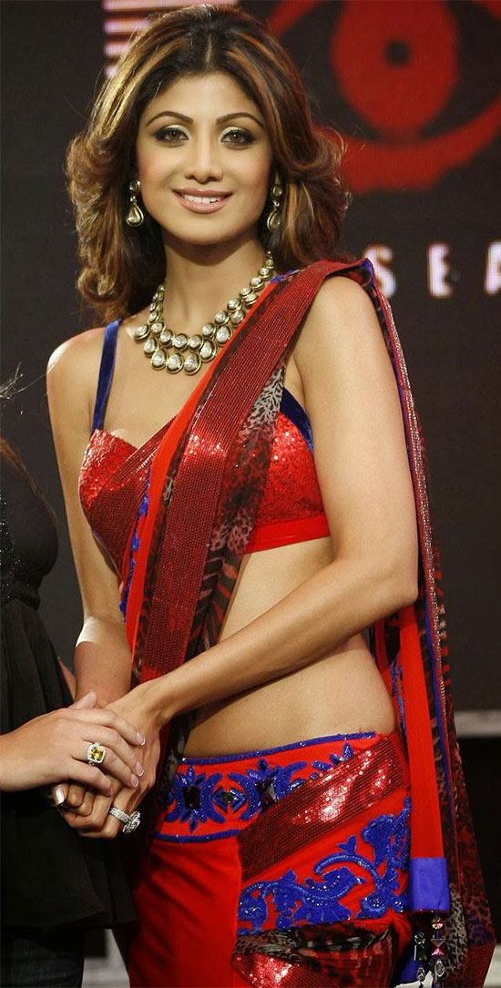 Shilpa Shetty In Red Saree