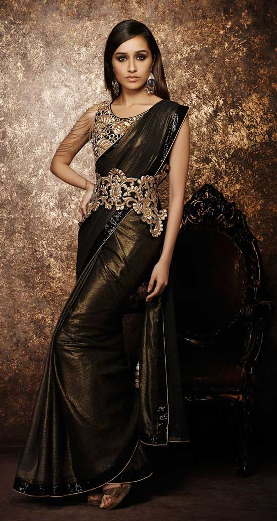 Shraddha Kapoor Bridal Saree With Designer Blouse
