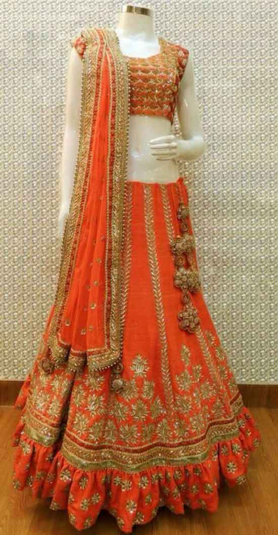 Stylish Choli Long Dress For Marriage Function
