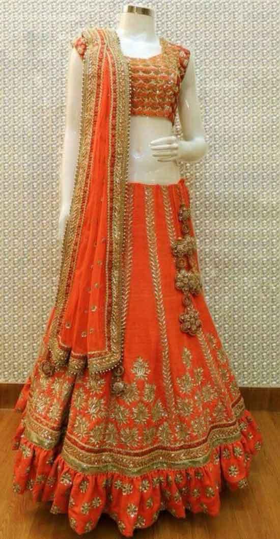 Stylish Choli Long Dress For Marriage Function