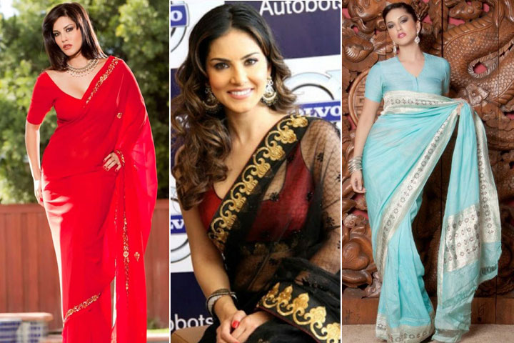 9 Amazing pics of Sunny Leone in Saree