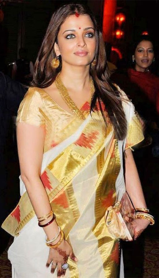 aishwarya-rai-in kerala saree