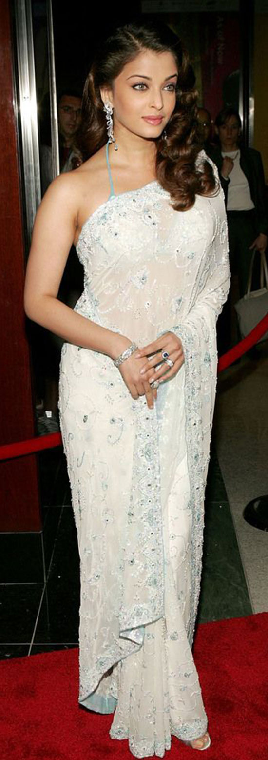 aishwarya-rai-in white saree
