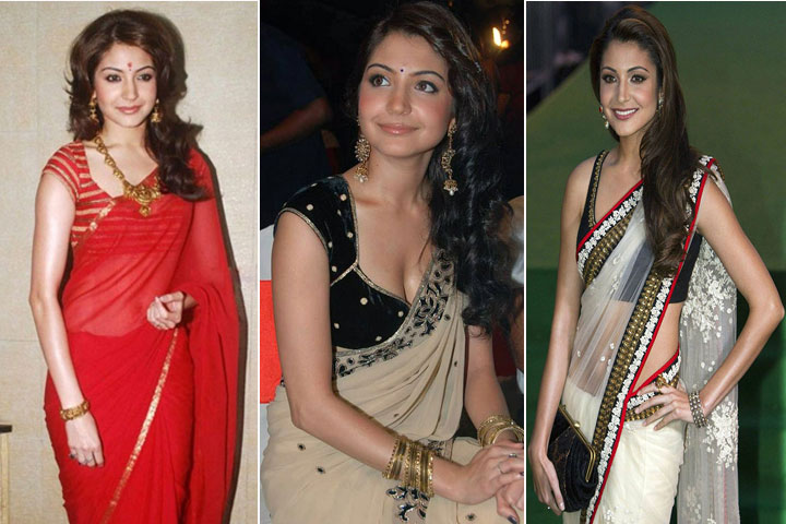 20 Gorgeous Pics of Anushka Sharma in Saree