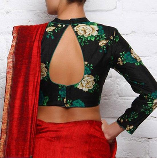 Black blouse hook design