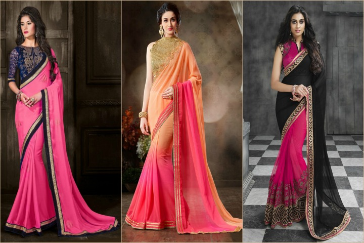 0d5ad6ae5001ef 27 Latest and Stylish Blouse Design Patterns for Chiffon Sarees