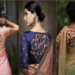 15 Different Embroidery Blouse Designs for Back Neck Blouses