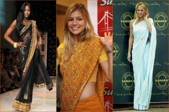 13 Stunning Pics of Hollywood Celebrities in Saree