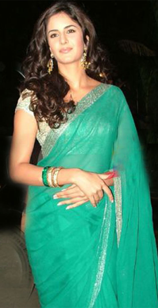 katrina kaif in Green Saree