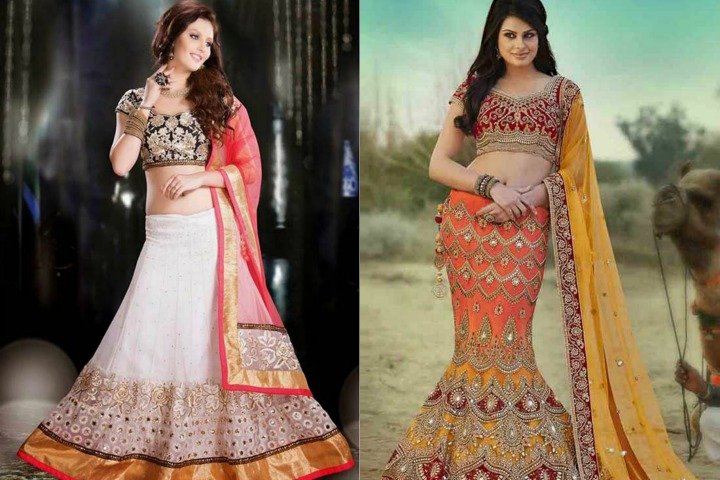 20 Stylish And Trendy Lehenga Saree Designs For Engagement