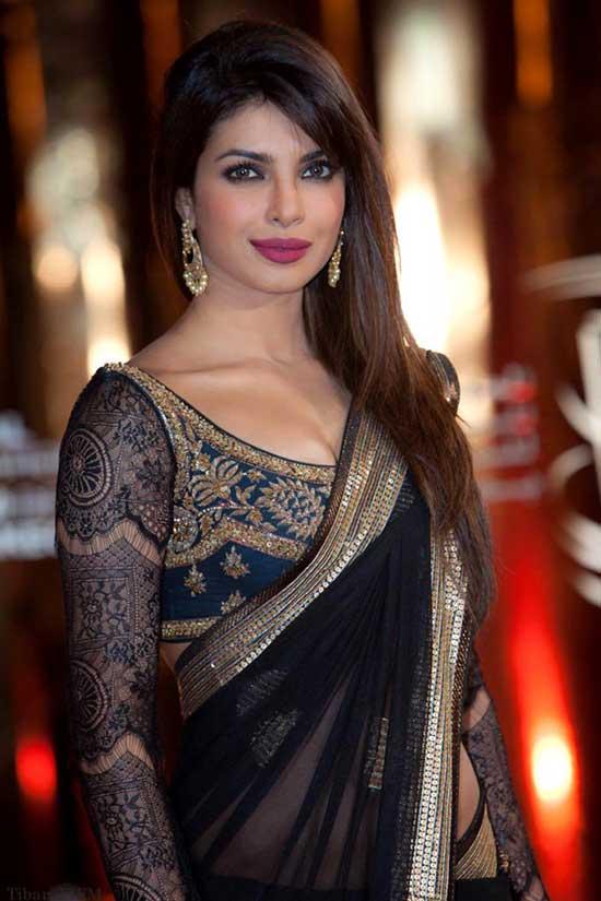 priyanka chopra in latest and trendy in full sleeve blouse