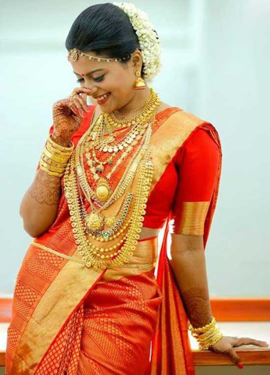 15 Kerala Wedding Sarees Amp Blouse Designs