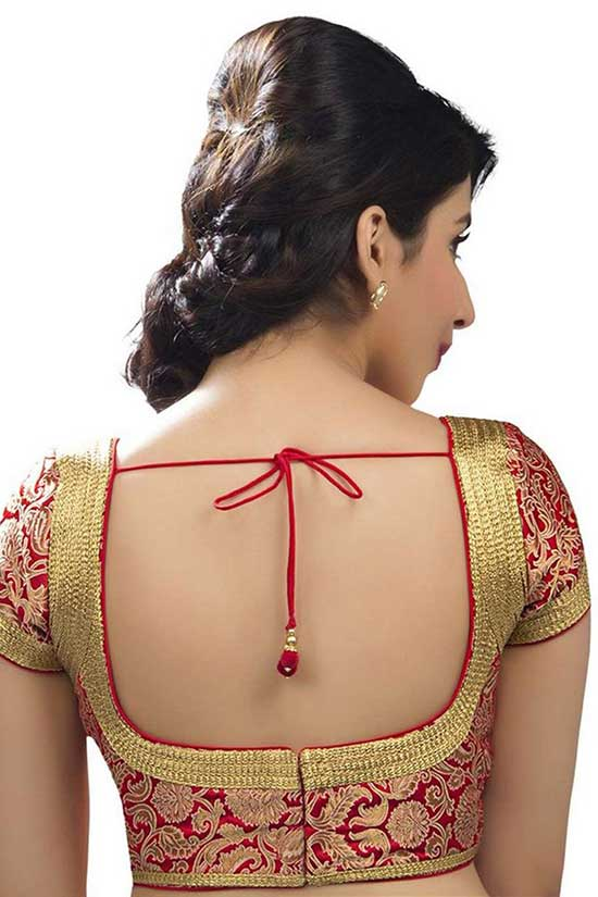 semi-brocade-enticing-blouse-with-pot