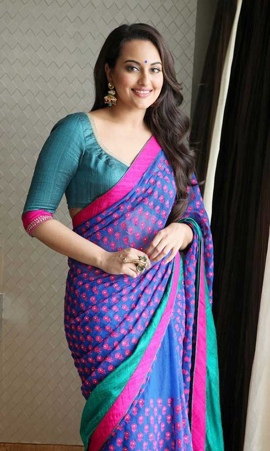 sonaskhi sinha in saree