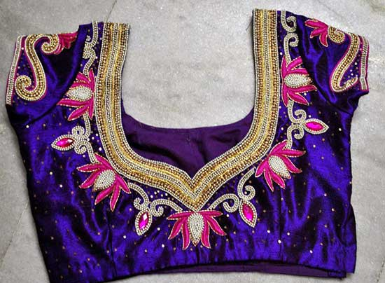 Elegant Work Silk Blouse Designs