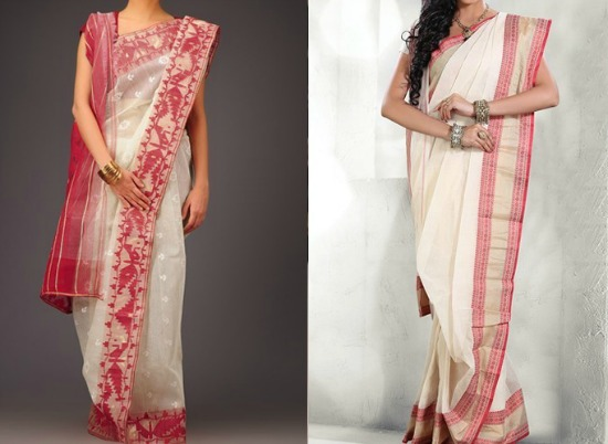 Pure Cotton Bengali Transparent Saree