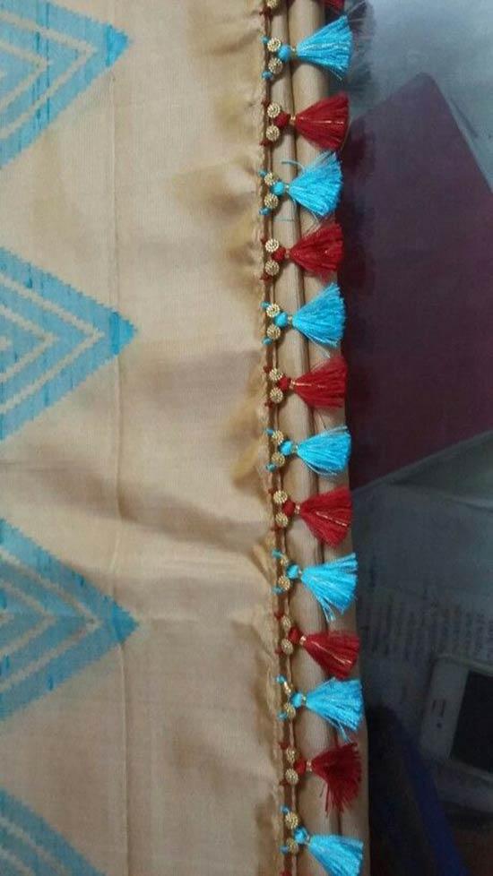 Kuchu Work Using Gold Beads and Tassells