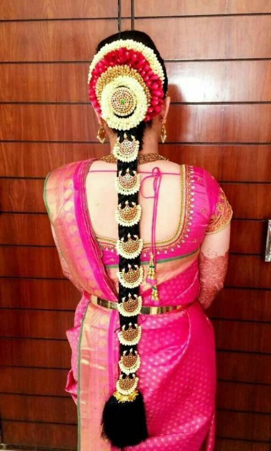 Back Sweartheart Shape Kundan and Lace Work Blouse