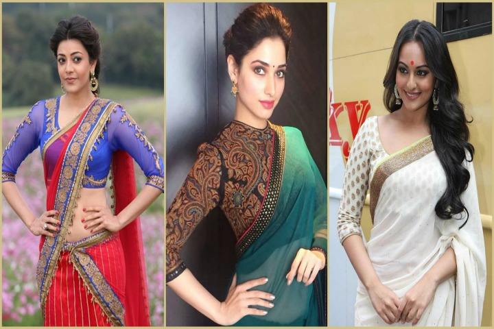 18 Trendy Saree blouses With Three Forth Sleeves Hands Blouse Designs