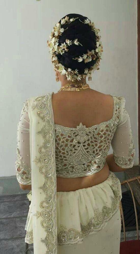 14 Gorgeous Pics Of Sri Lankan Wedding Saree Blouse Designs