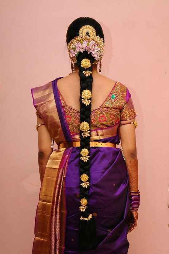 Heavy Multicolor Hand Embroidery Work On Back Of Blouse