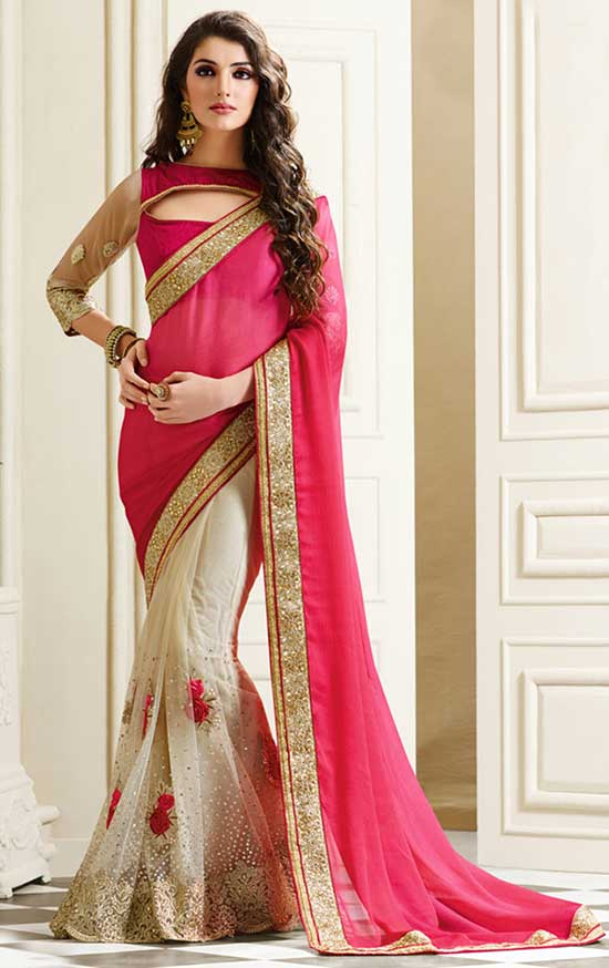 Cream Color Beautiful Heavy Work Designer Saree Blouse