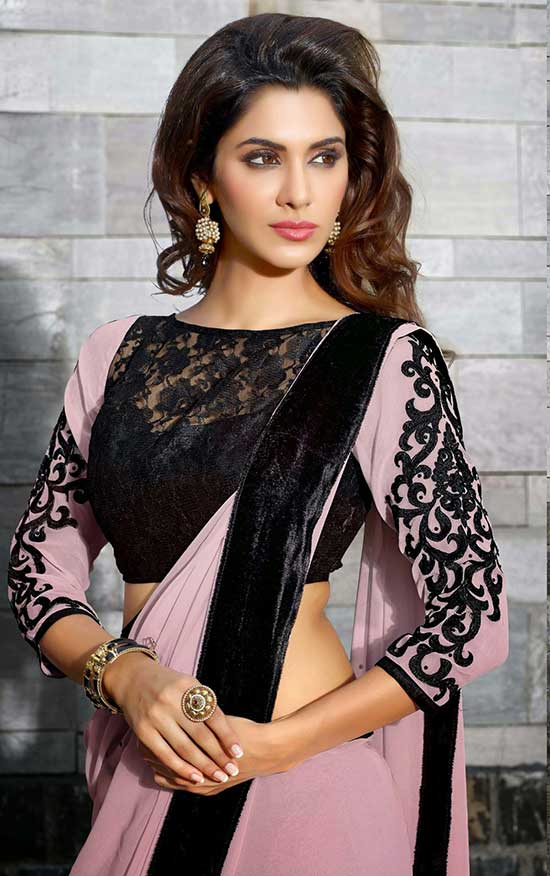 Dusky Pink And Black Color Combo