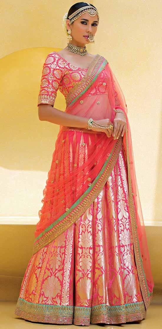 Embellished Banarasi Brocade Lehenga