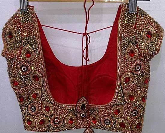 Heavy Bridal Kundan work Readymade Blouse
