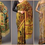 18 Kalamkari Sarees and With Matching Blouses
