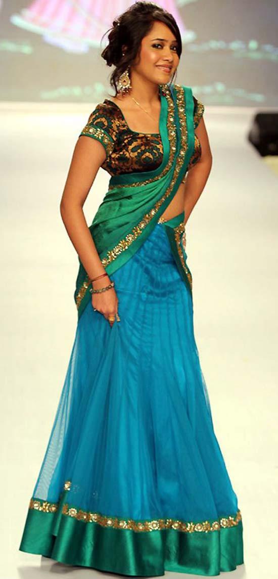 Latest blouse design for half sari