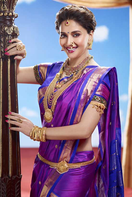 MadhuriDixit as a Maharashtrian Bride In Nauvari Saree