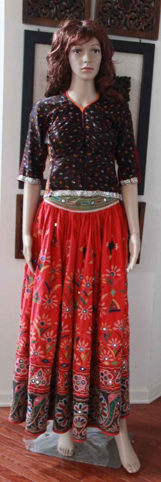 Original Vintage style Rabari Ghagra Choli with Kutch hand embroidery