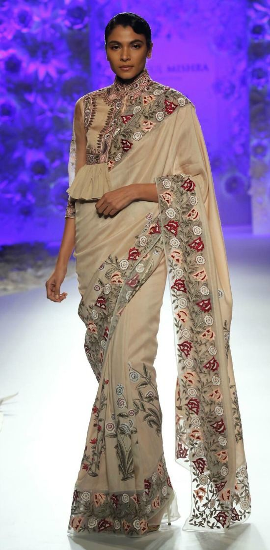 Rahul Mishra Saree at India Couture Week