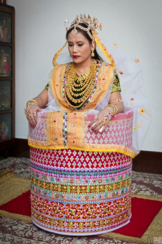 Stunning Bridal Dress of Manipuri Women
