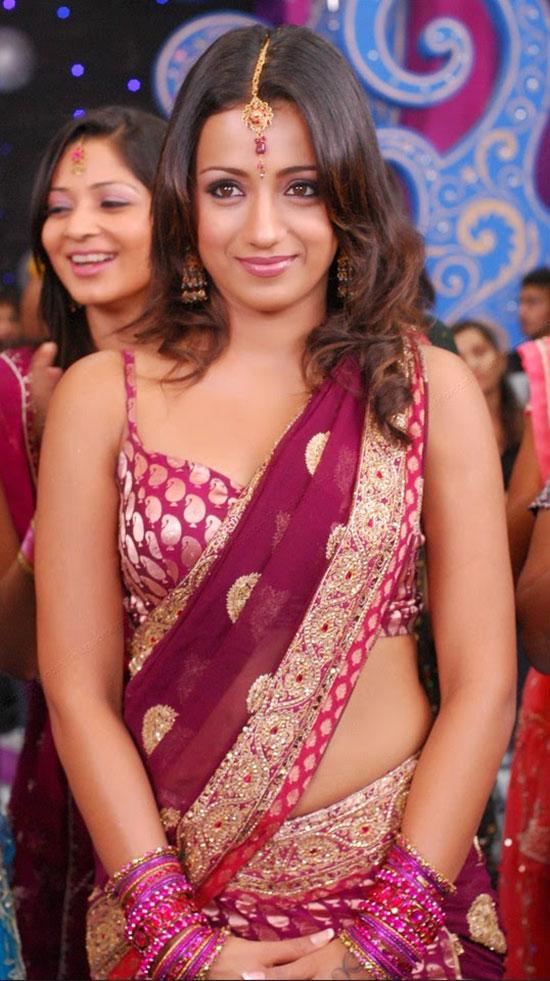 Trisha In Banarasi Silk Half Saree