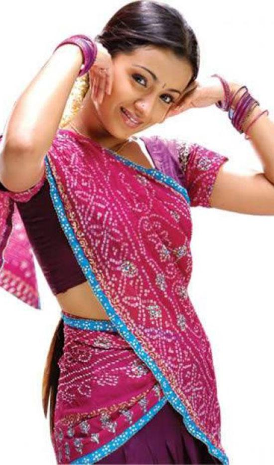 Trisha In Red Half Saree
