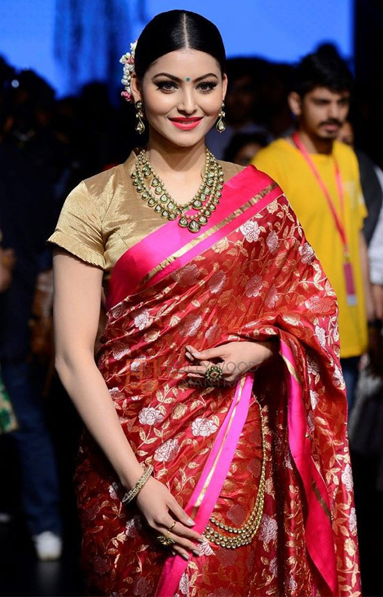 Urvashi Rautela In Traditional Pattu Saree