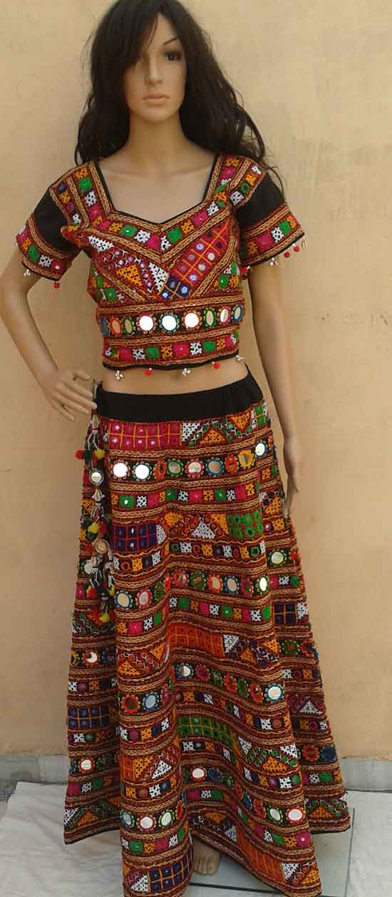 banjara tribal ethnic bellydance mirror ats skirt or chaniya choli