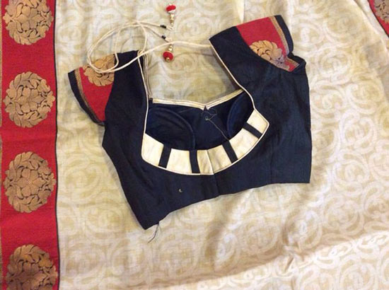 blouse simple patch work