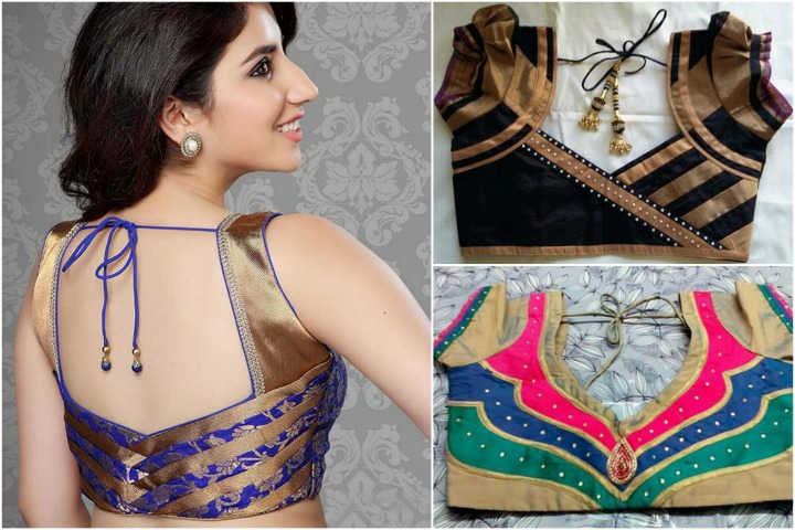 13 Latest Blouse Designs With Patch Work