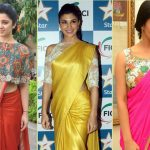 19 Amazing Pics of plain saree with designer blouse